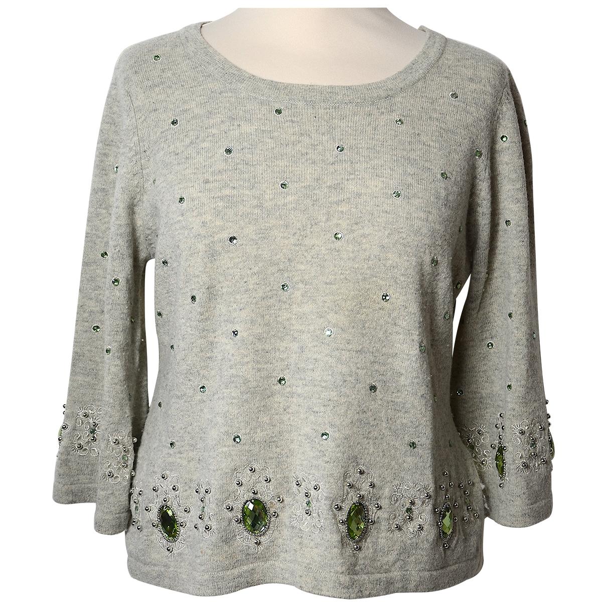 Manoush - Pull   pour femme en laine - gris