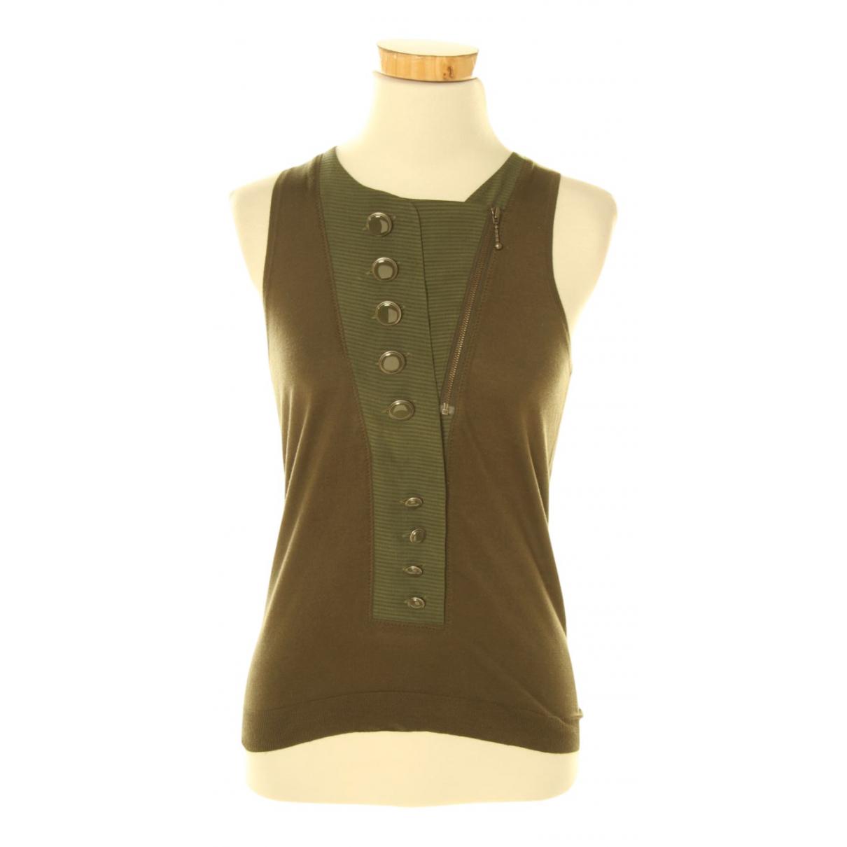 Balenciaga - Top   pour femme en soie - vert