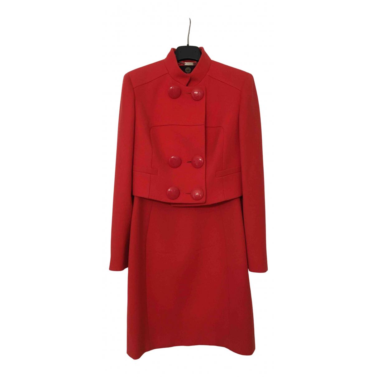Versace \N Kleid in  Rot Wolle