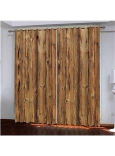 3D Printed Rustic Country Barn Wood Door Vintage Rustic Theme Blackout Curtain