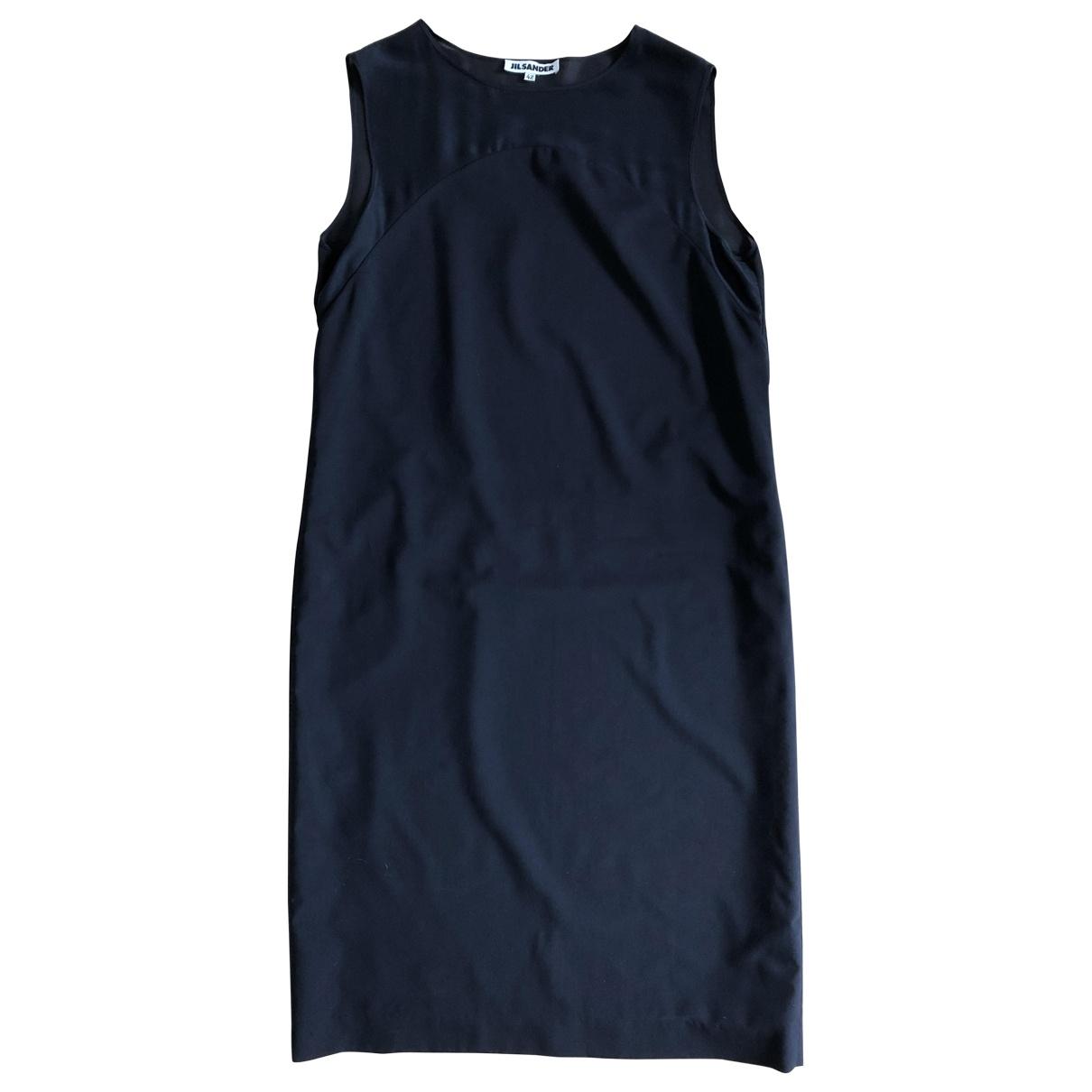 Jil Sander \N Kleid in  Marine Wolle