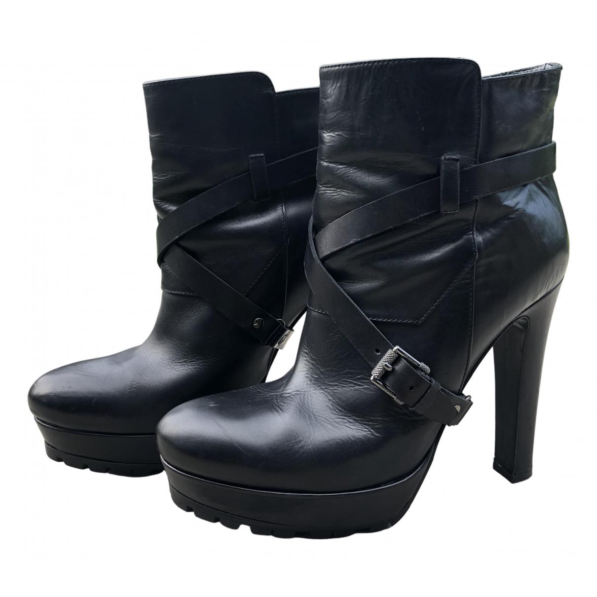 Belstaff \N Black Leather Ankle boots for Women 40 EU