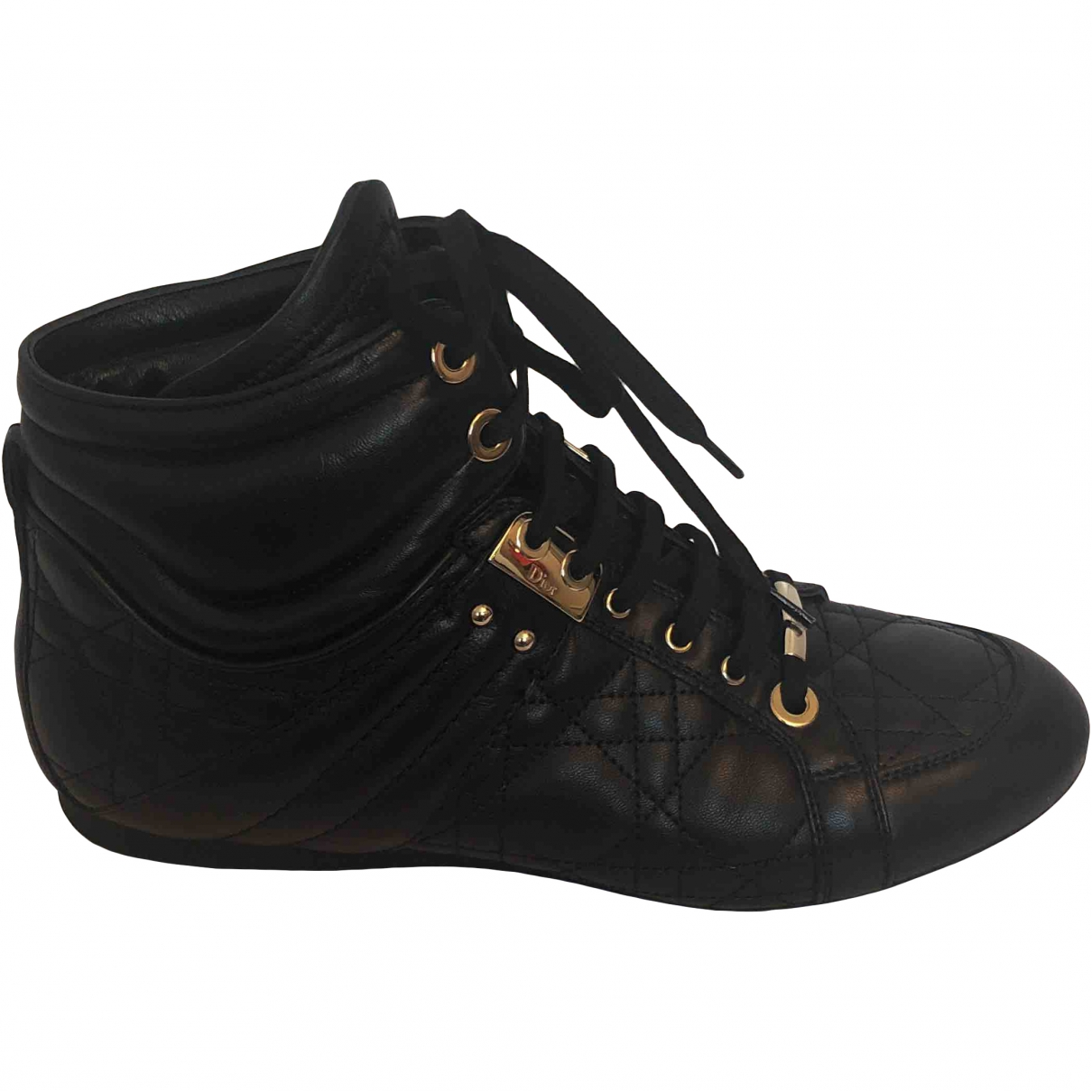 Dior \N Black Leather Trainers for Women 39 EU