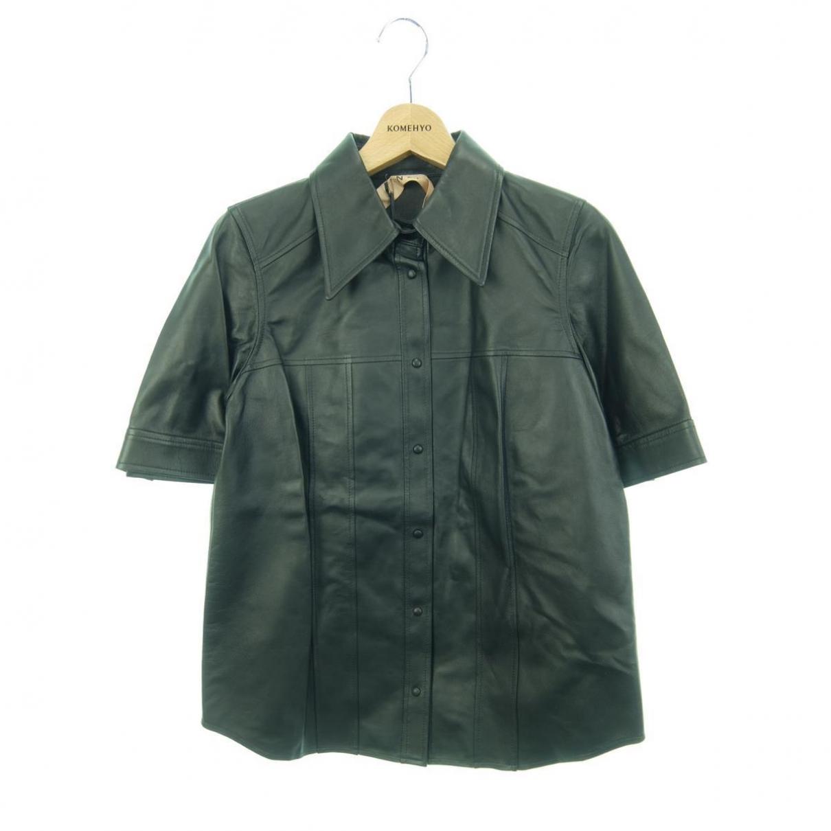 N°21 \N Black Leather  top for Women 40 IT