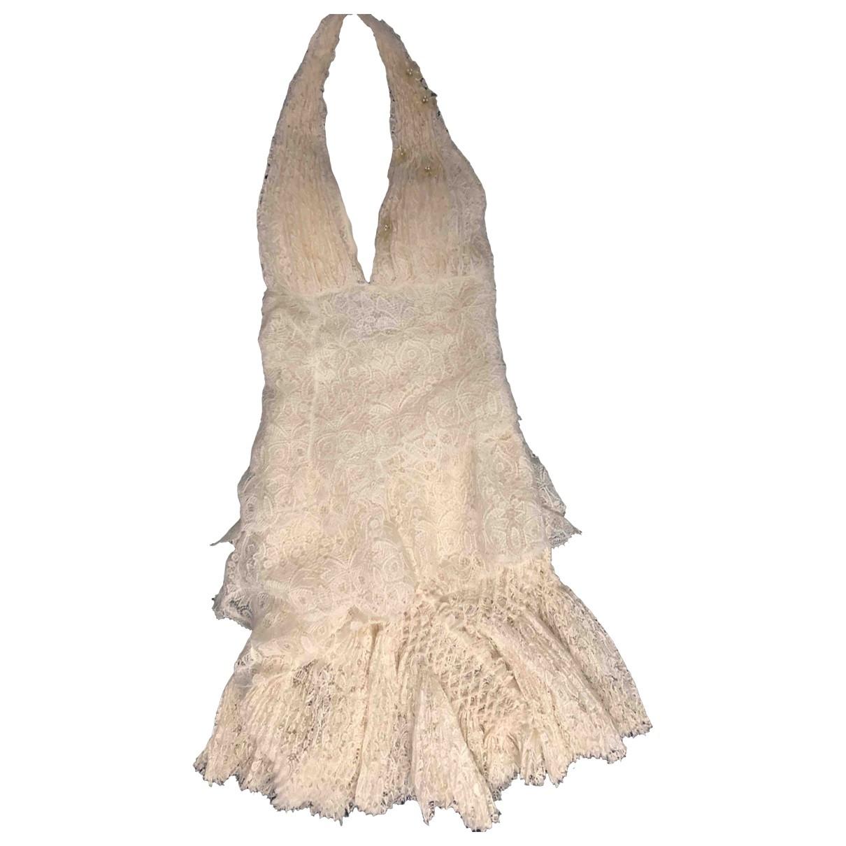 Ermanno Scervino \N Beige Silk dress for Women 36 IT