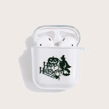 Halloween Pattern Clear Airpods Case