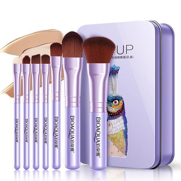 7Pcs Face Makeup Brushes Set Foundation Blush Eye Shadow Lip Brow Brush Makeup Tools Set