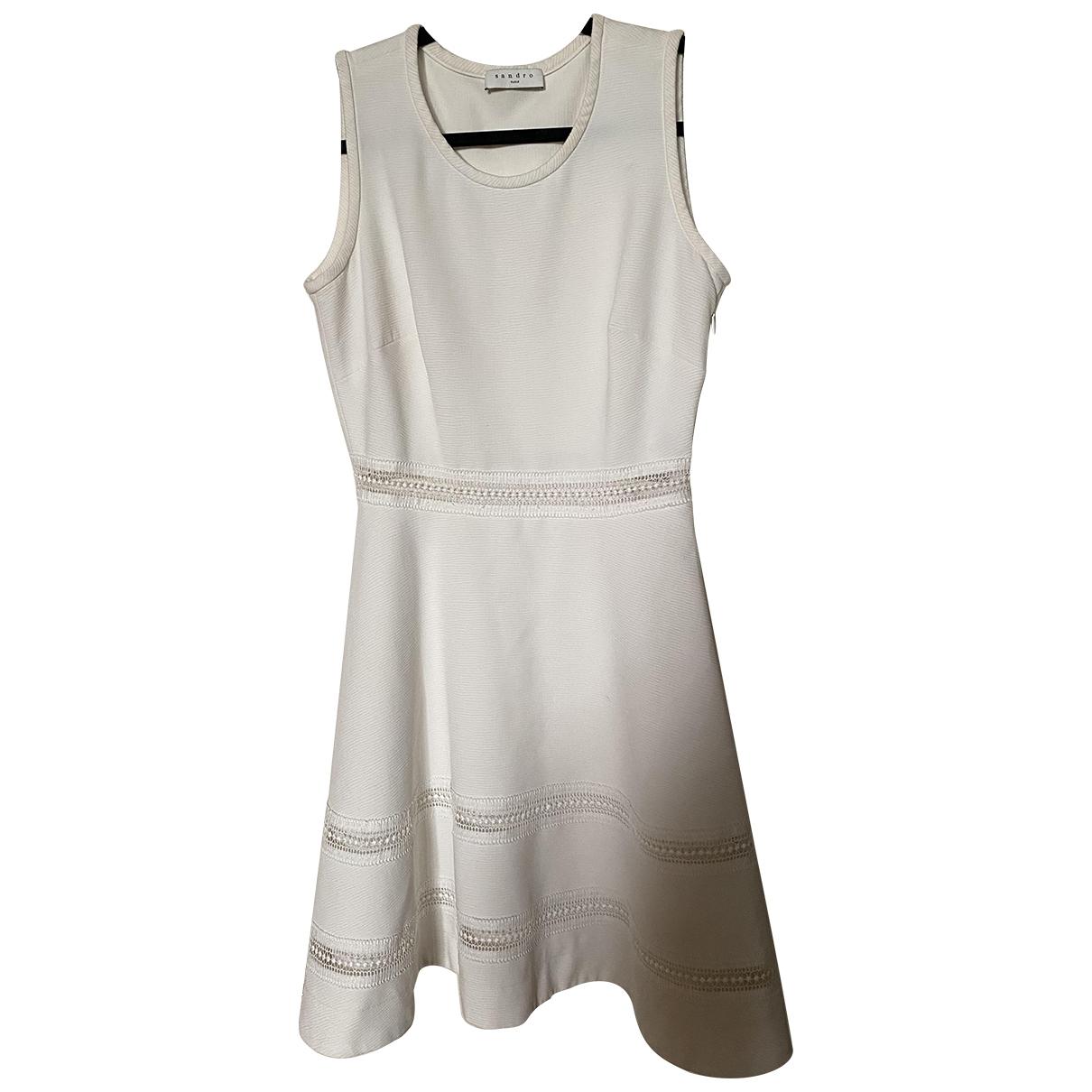 Sandro \N Kleid in  Weiss Baumwolle - Elasthan
