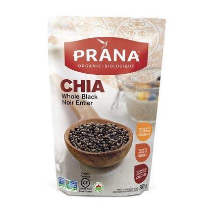 Prana Chia Seeds Black Whole Organic 300g