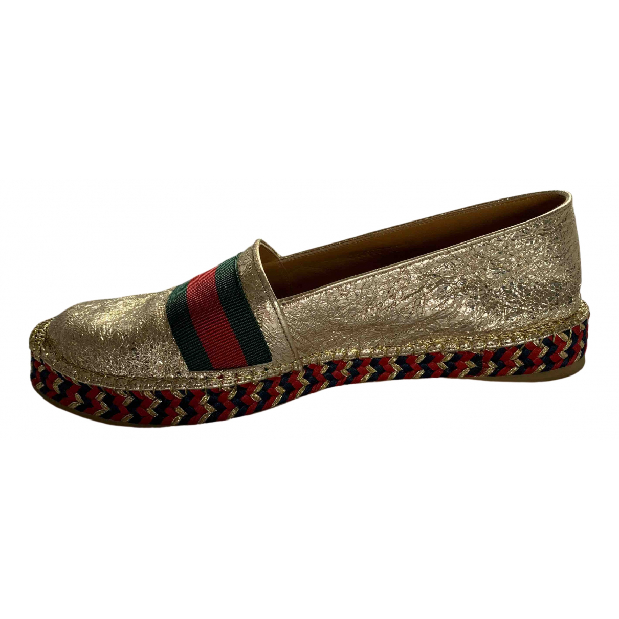 Gucci \N Espadrilles in  Gold Leder