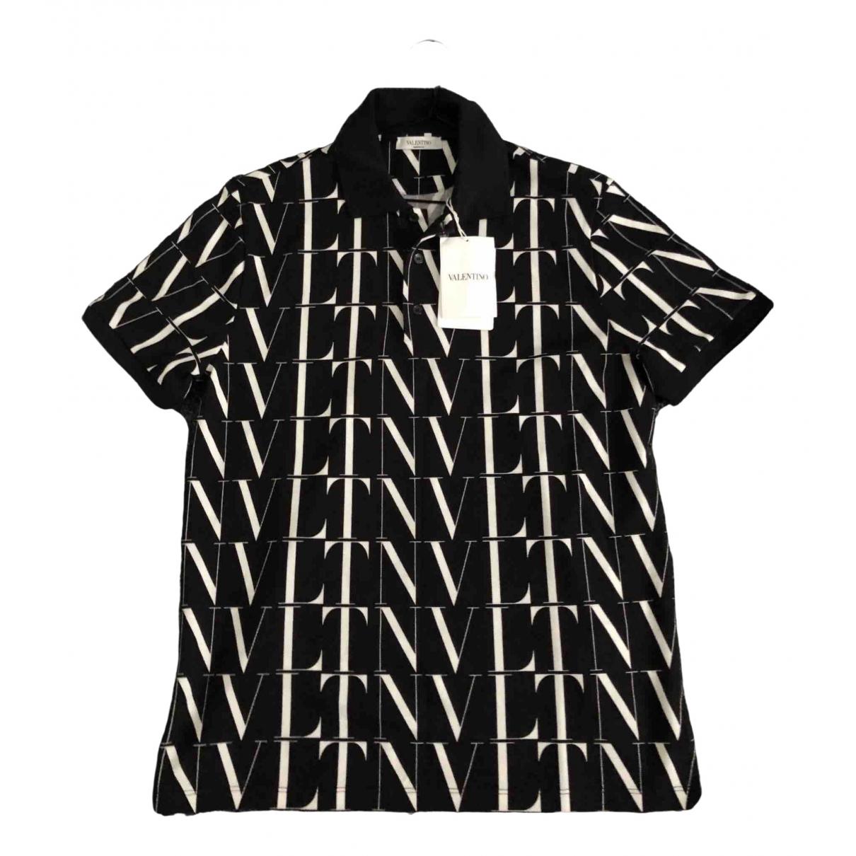 Valentino Garavani \N Black Cotton Polo shirts for Men M International