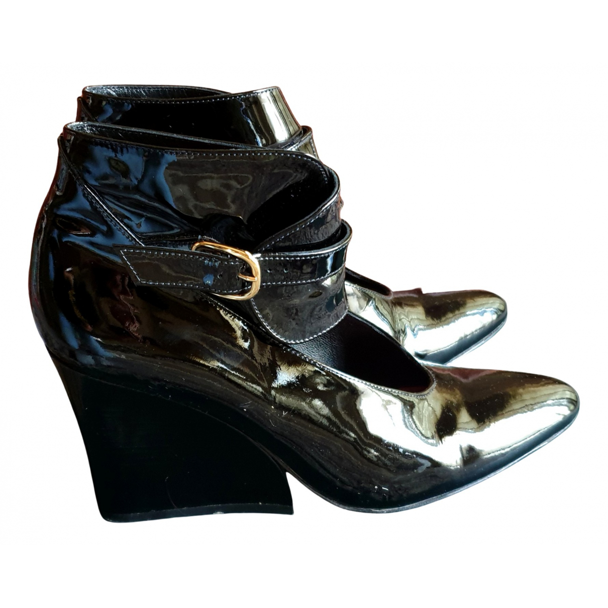 Robert Clergerie N Black Patent leather Heels for Women 40 EU