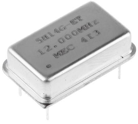 MERCURY , 12MHz Clock Oscillator, ±50ppm HCMOS, TTL, 14-Pin PDIP 5H14ET-12.000