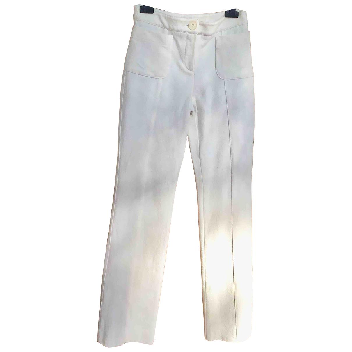 Pantalon recto de Lana Emporio Armani