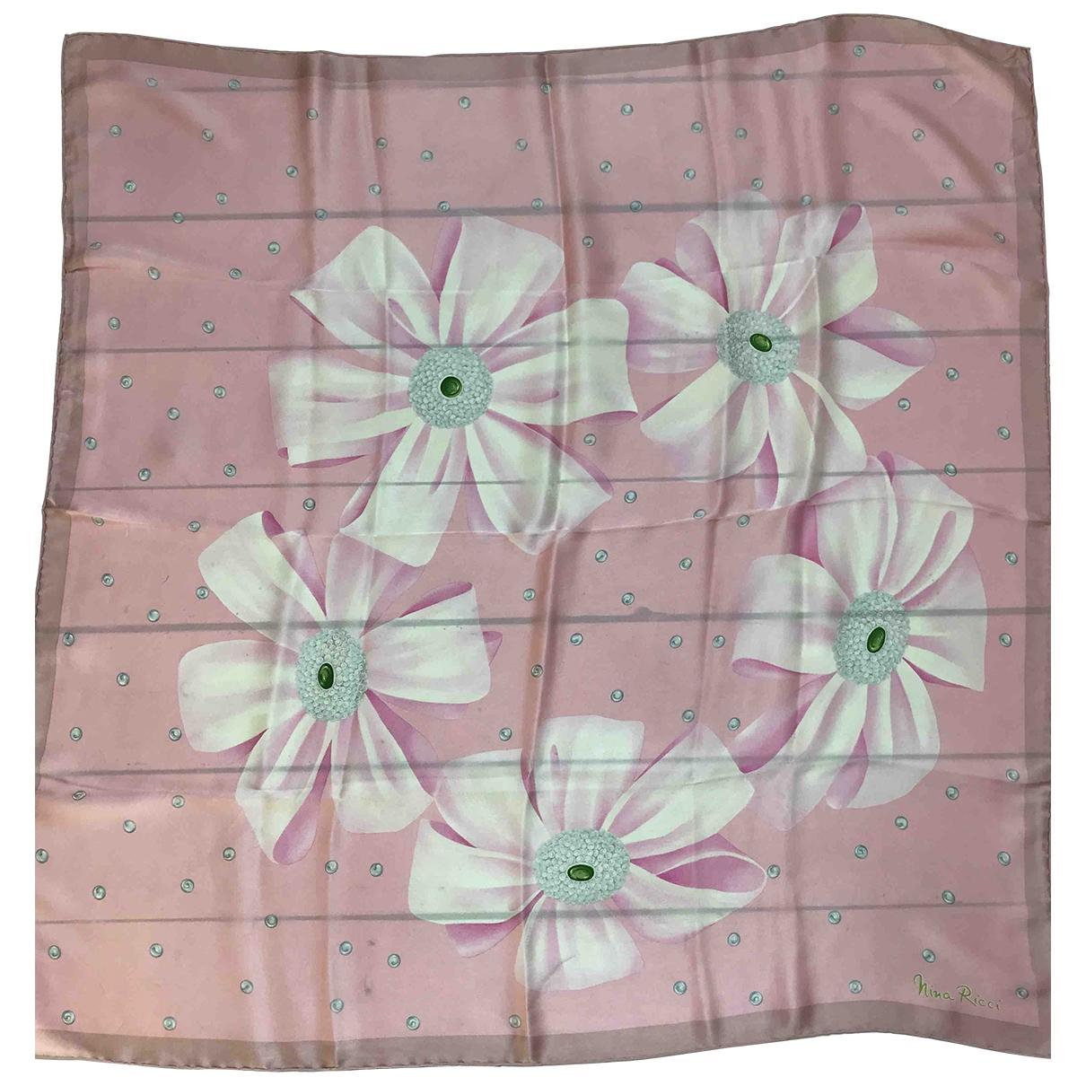 Nina Ricci - Foulard   pour femme en soie - rose