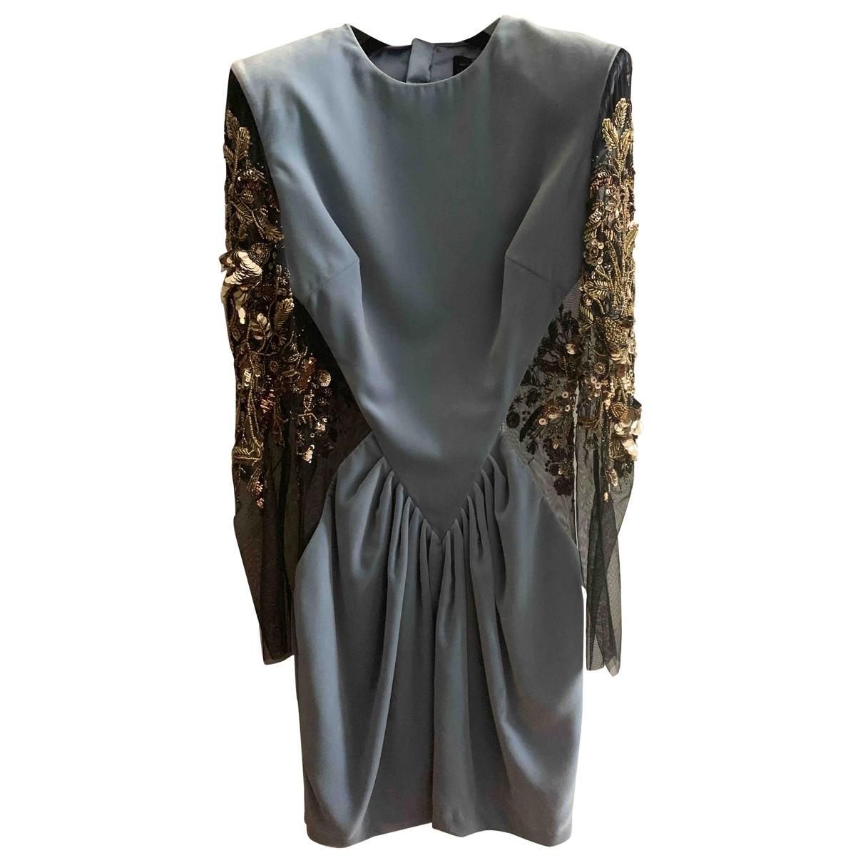 Elisabetta Franchi - Robe   pour femme en velours - turquoise