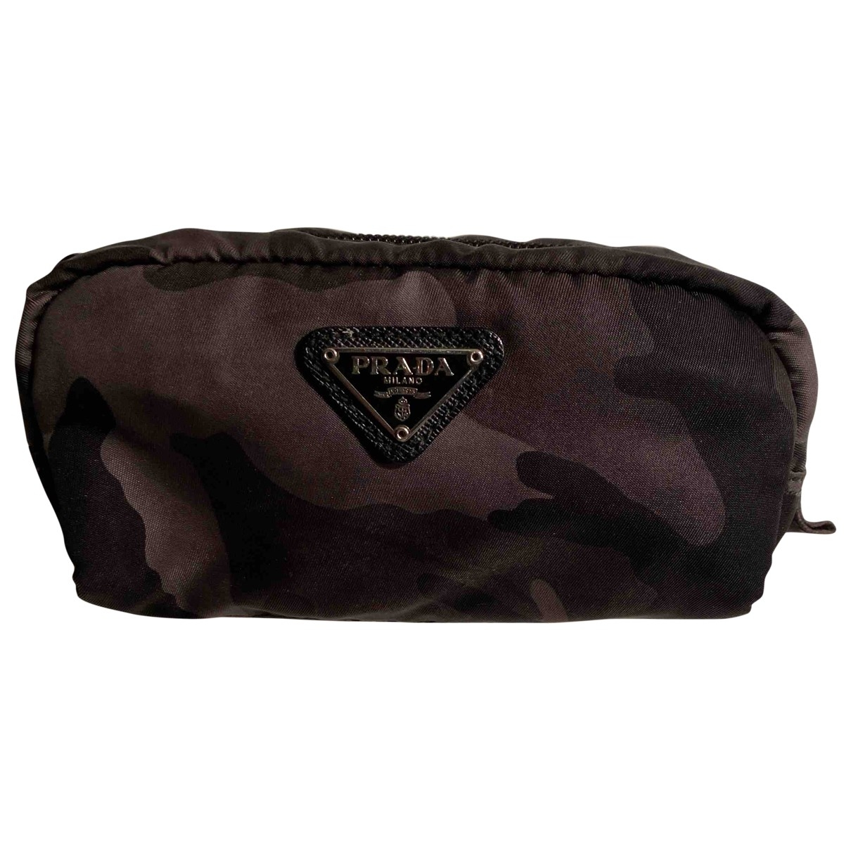 Prada \N Black Cloth Small bag, wallet & cases for Men \N