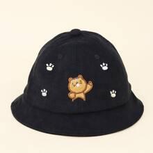 Toddler Kids Cartoon Embroidered Bucket Hat