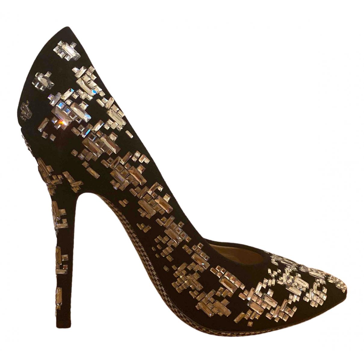 Salvatore Ferragamo \N Black Glitter Heels for Women 40.5 EU