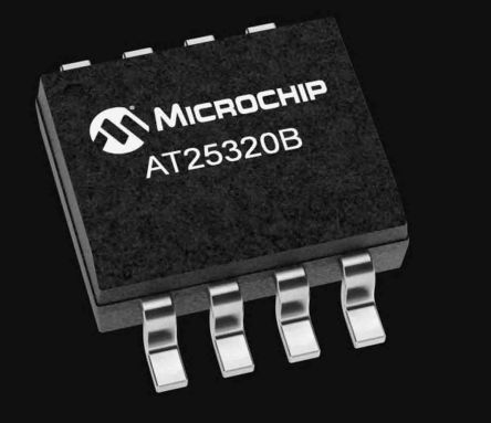 Microchip AT25320B-SSHL-B, 32kbit EEPROM Memory Chip, 80ns 8-Pin SOIC-8 Serial (Microwire) (100)