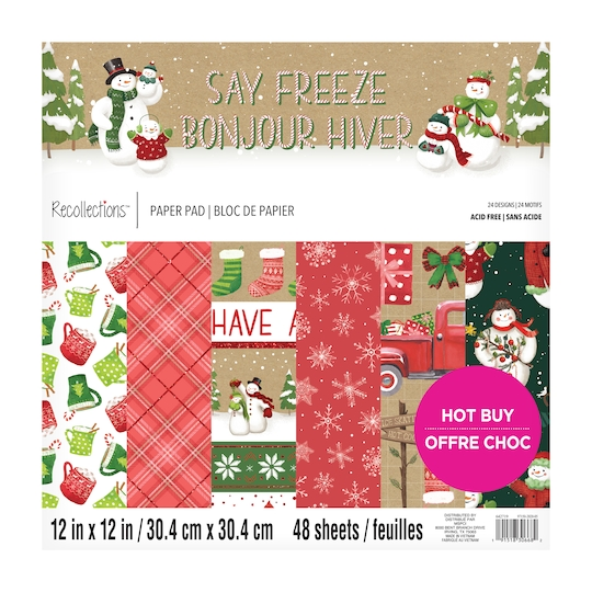 Say Freeze Paper Pad By Recollections™, 12