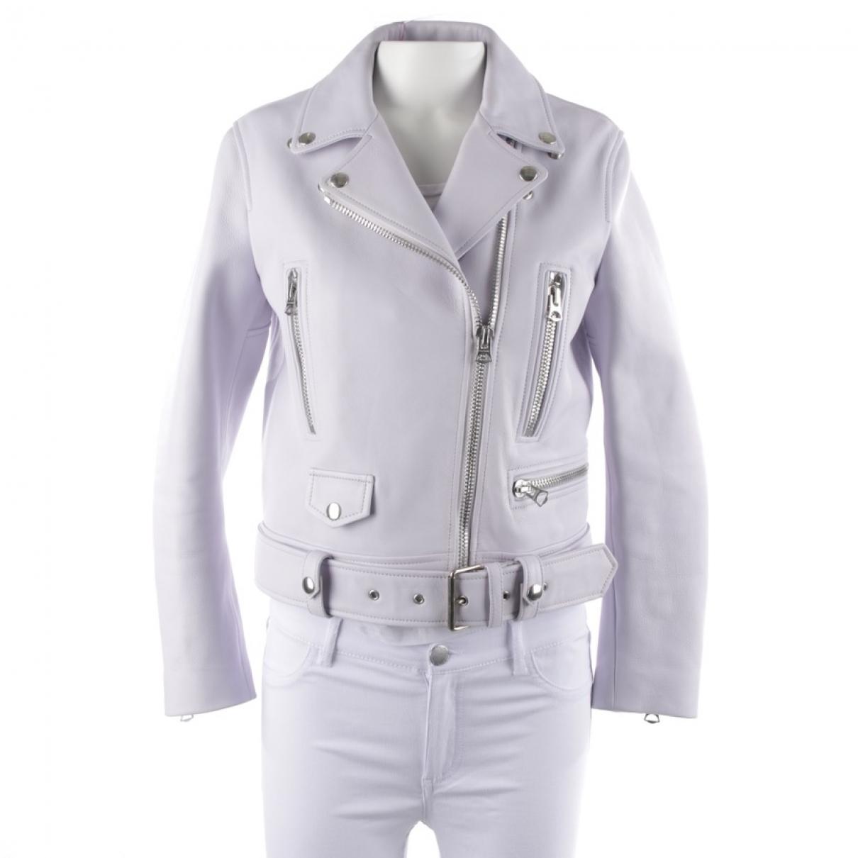 Acne Studios \N Blue Leather jacket for Women 36 FR