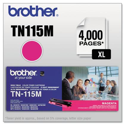 Brother TN115M Original Magenta Toner Cartridge