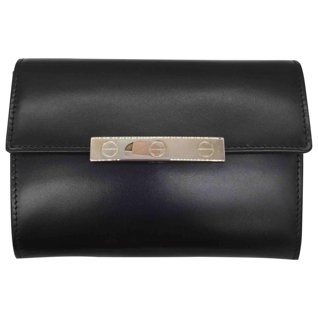 Cartier - Portefeuille   pour femme en cuir - noir