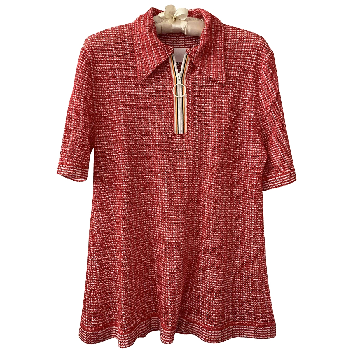 Maison Martin Margiela \N Red Cotton  top for Women 40 FR