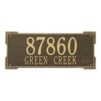1020AB Personalized Roanoke Plaque - Estate -Wall - 2 Line in Antique