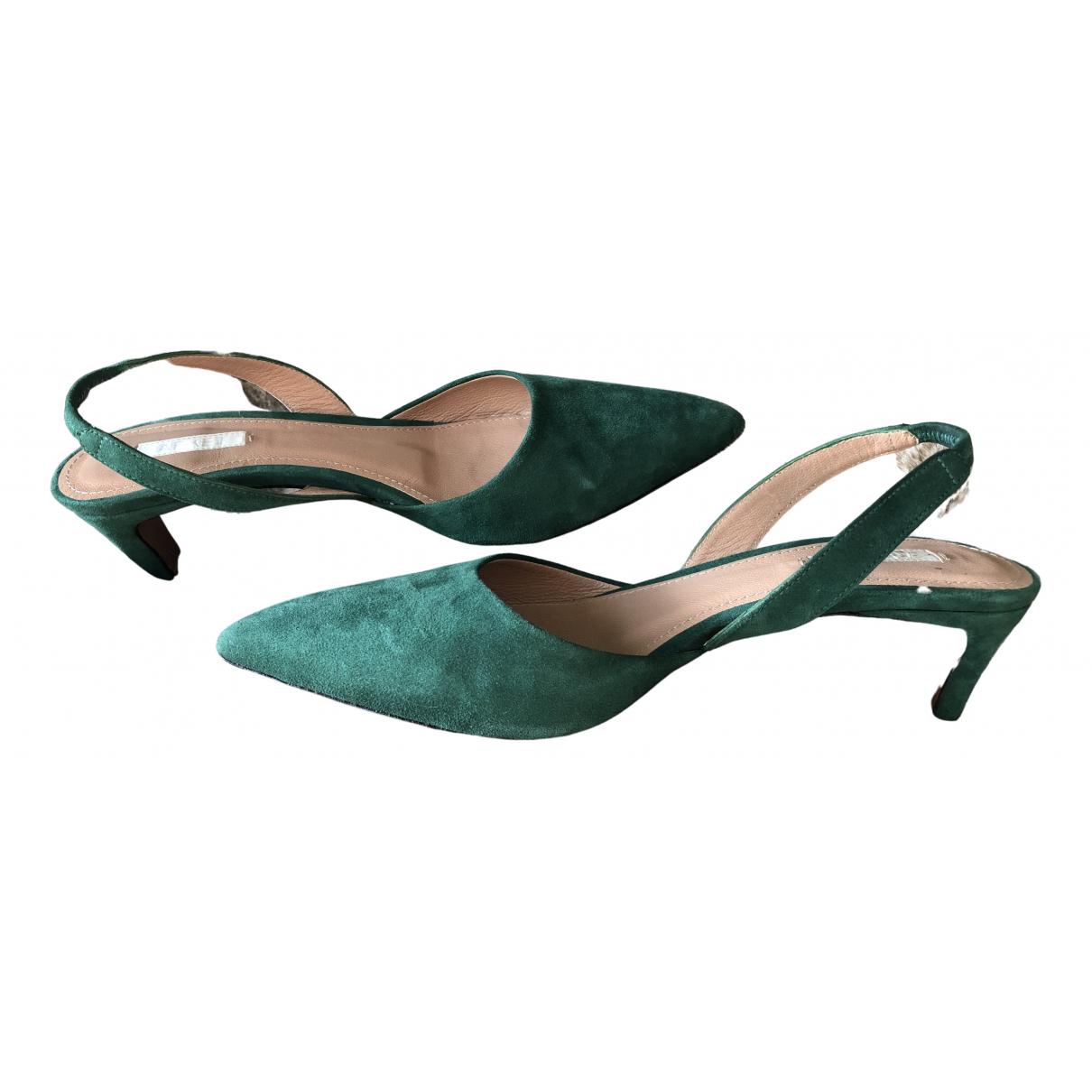 Arket - Escarpins   pour femme en suede - vert