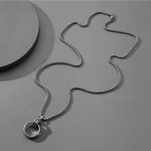 Maenner Ring Charm Halskette