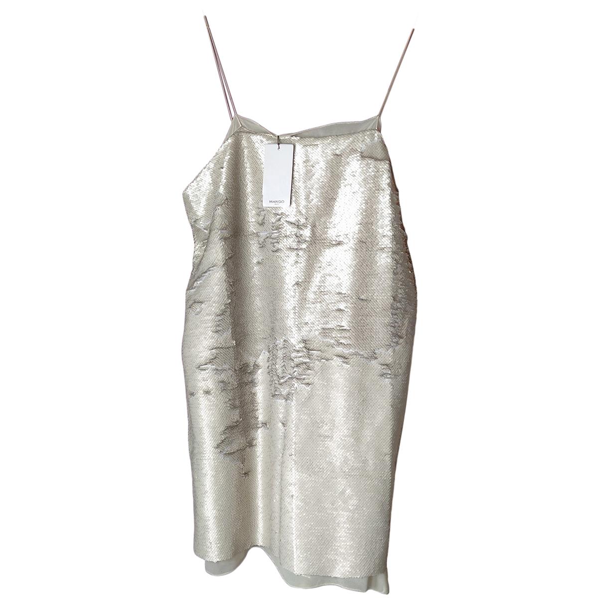 Mango \N Kleid in  Beige Mit Pailletten