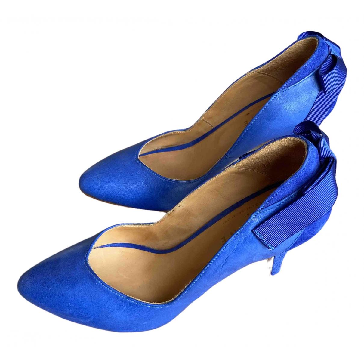 Sezane \N Pumps in  Blau Leder