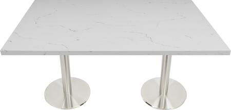 Q401 30X48-SS14-23D 30x48 Carrera White Quartz Tabletop with 23