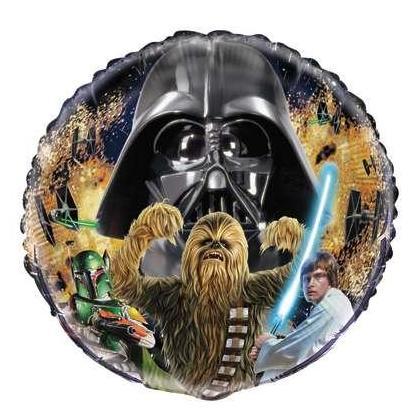 Ballon rond classique en aluminium Star Wars, 18