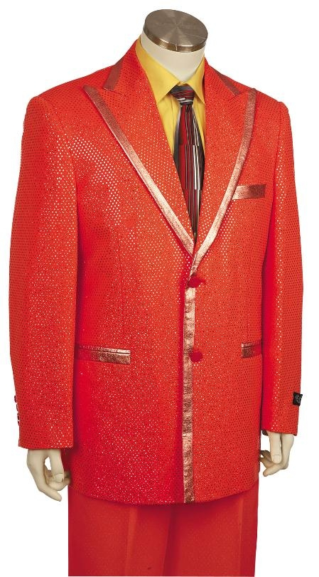 2 Button Red Zoot Suit  Mens