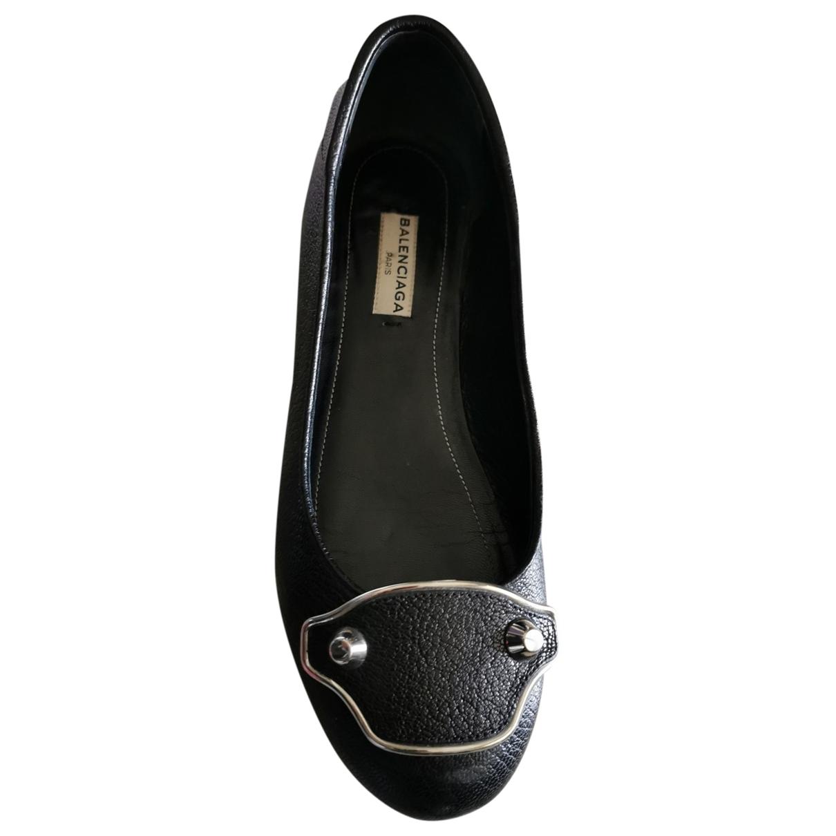 Balenciaga - Ballerines   pour femme en cuir - noir