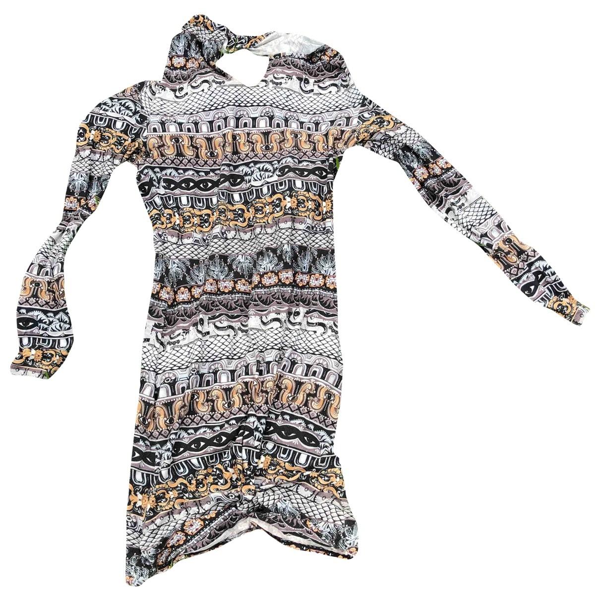 Kenzo \N Kleid in  Bunt Viskose