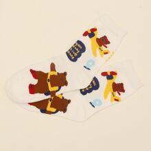 Socken mit Baer Muster