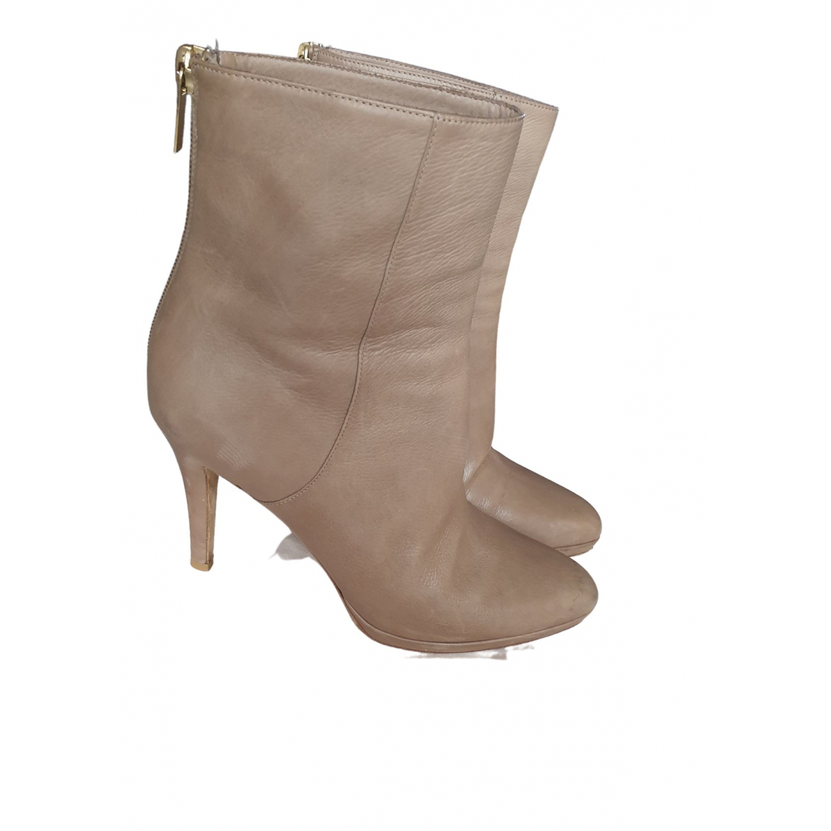 Jimmy Choo \N Beige Leather Ankle boots for Women 36.5 EU