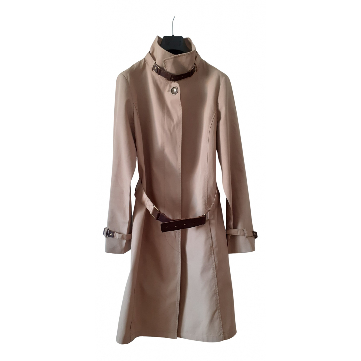 Max & Co N Beige Cotton Trench coat for Women 44 IT