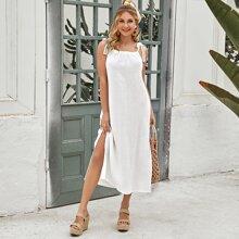 Cami Kleid mit Knoten Traeger
