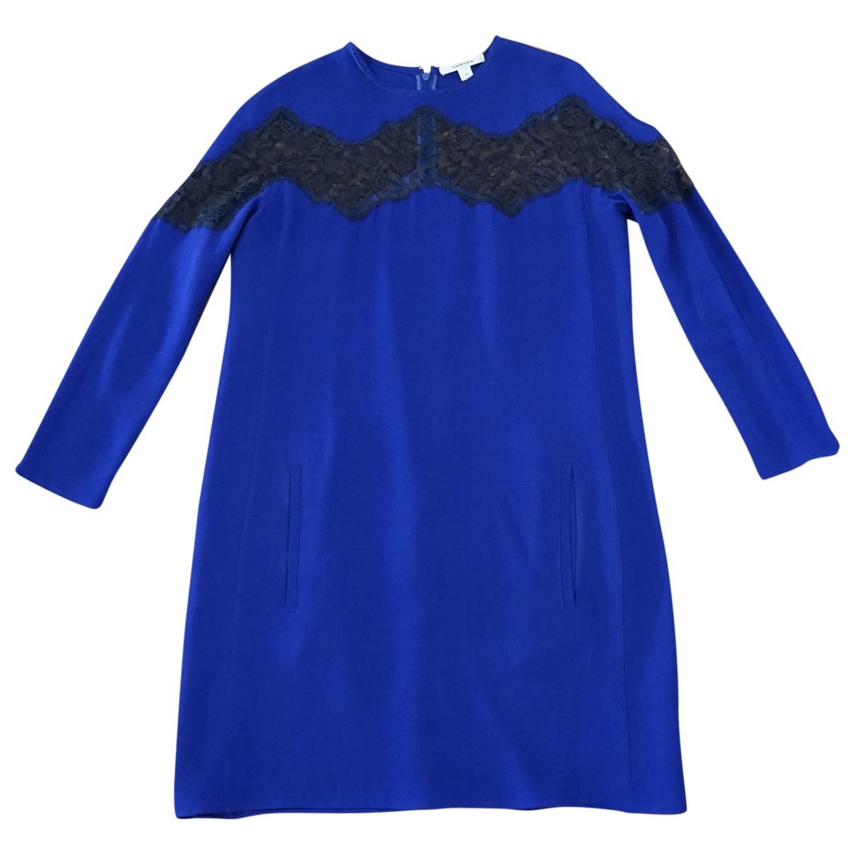Carven \N Kleid in  Blau Seide