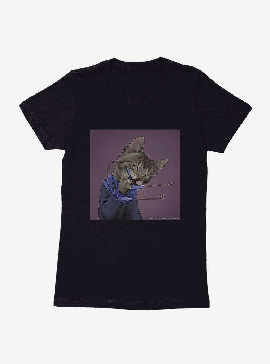 Star Trek The Next Generation Cats Communicator Womens T-Shirt