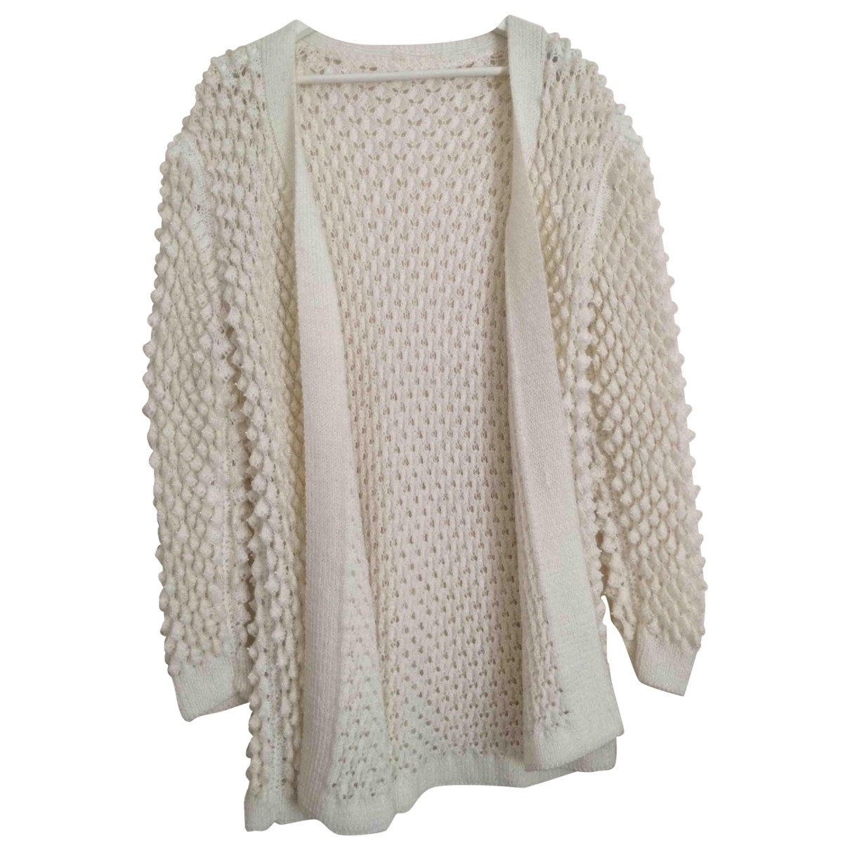 Non Signé / Unsigned Oversize Beige Cotton Knitwear for Women M International