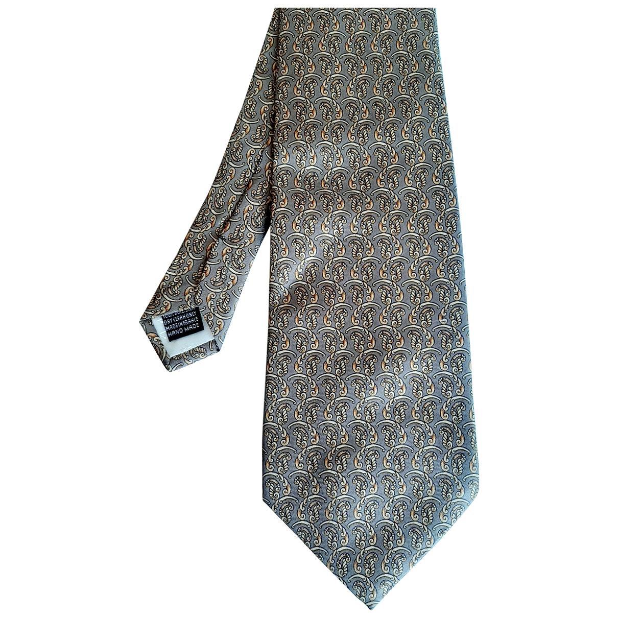 Pierre Balmain \N Krawatten in  Braun Seide