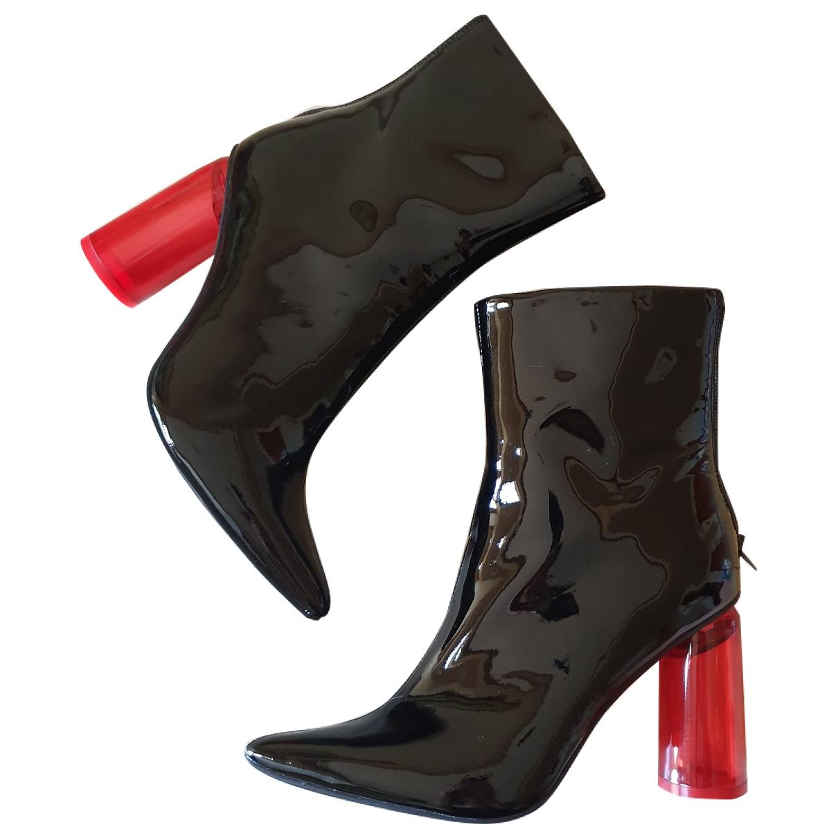 Jeffrey Campbell - Boots   pour femme en cuir verni - noir