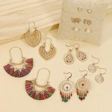 8 Paare Ohrringe mit Kunstperlen & Perlen Dekor