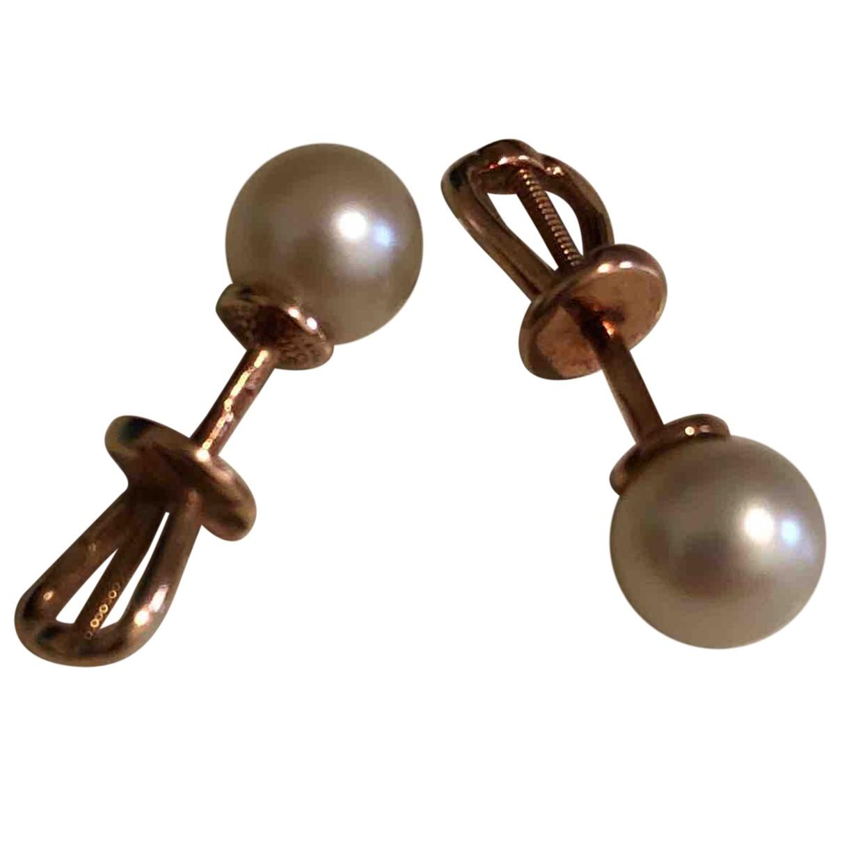 Tiffany & Co - Boucles doreilles   pour femme en perle - dore
